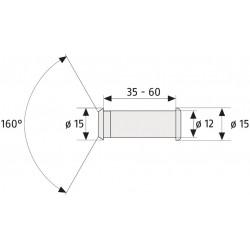 deurspion 35-55 mm nikkel 2160