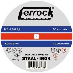 Doorslijpschijf metaal Ferrock 125X1.0