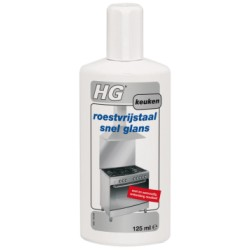 Roestvrijstaal snel glans 125 ml HG