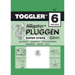 Alligatorplug A - 6 mm 6 stuks