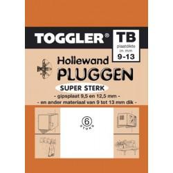 Hollewandplug TB 6 stuks