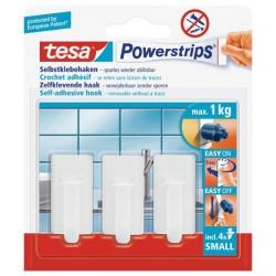 Minihaakjes wit met powerstrip Tesa 57530