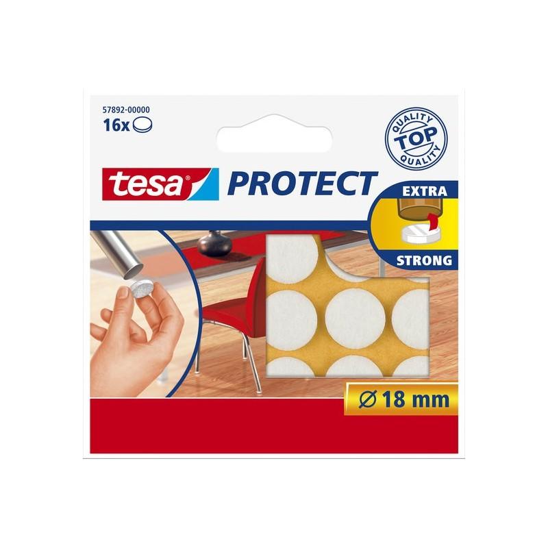Viltschijf wit 18 mm rond wit Tesa 57718