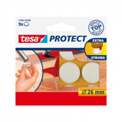 Viltschijf wit 26 mm rond Tesa 57894