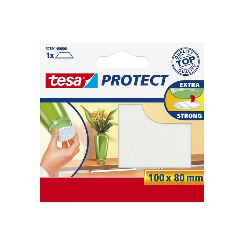 Bescherm vilt 80x100 wit Tesa 57891