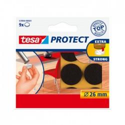 Viltschijf bruin 26 mm rond Tesa 57894