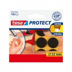 Viltschijf bruin 22 mm rond Tesa 57893