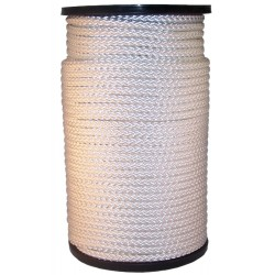 Nylon koord wit 4mm per meter