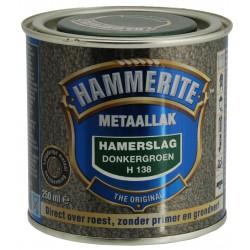 Hammerite donkergroen hamerslag (250ml)