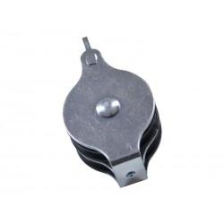 Katrol poly dubbel 1-oog 50mm
