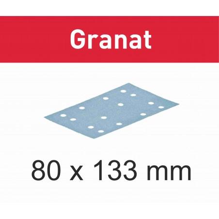 Vel schuurpapier voor RTS 400 Vlakschuurmachine 80x133 Festool in verschillende korrels
