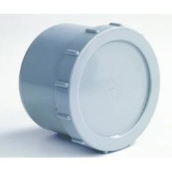 PVC Eindstop met schroefdeksel 40 mm.