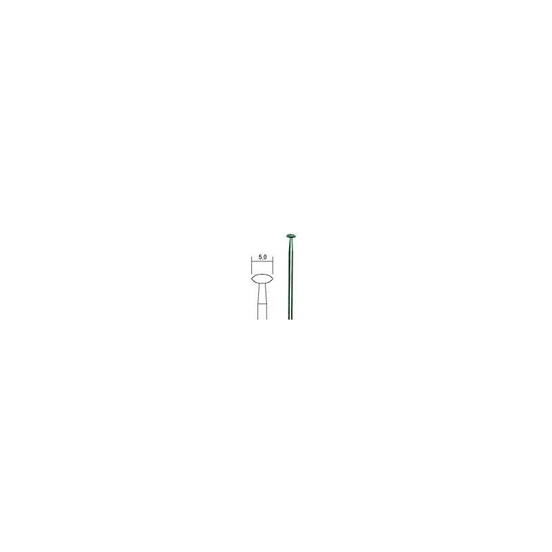 Diamant slijpstift lensvorm Ø 5,0 mm. (28250)