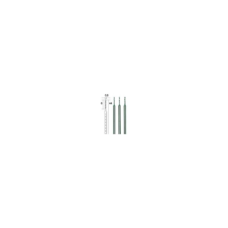 Mikro spiraalboren 0,8 mm. 3 st. (28852)