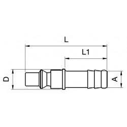 Orion Nippel 22SFTF10MXN 10mm