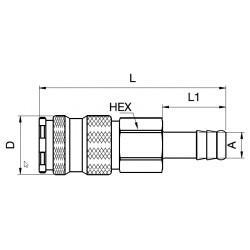Orion Koppeling 22KATF06MPN 6mm