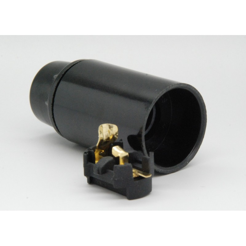 Fitting E14 Glad zwart