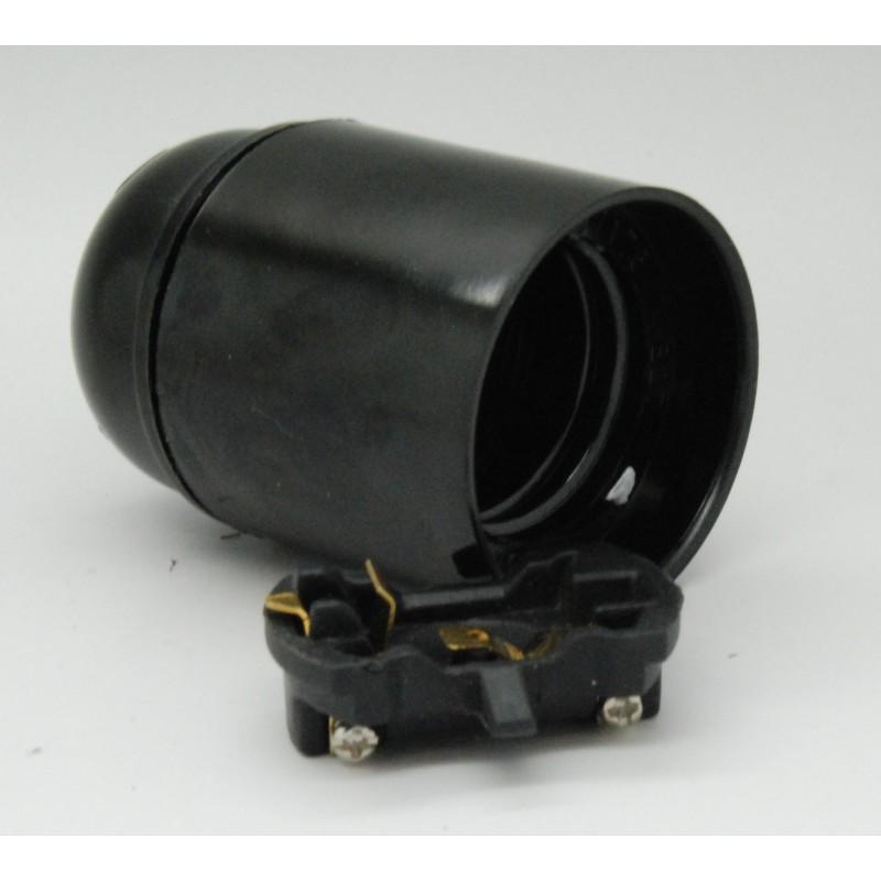 Fitting E27 glad zwart