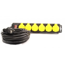 Stekkerdoos spatwatervast 6V met klep
