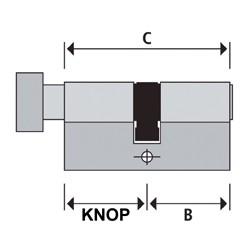 KnopCilinder 41KC1-S-NI 46/36